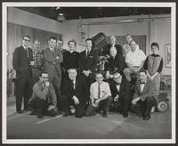 Cinecraft staff and crew with Don Ameche
