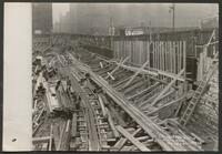 Chicago Union Station construction: Looking west