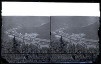 Mauch Chunk Switchback Railway, looking north from Mt. Pisgah