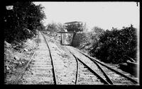 Mauch Chunk Switchback Railway, car ascending 'Five Mile Tree'
