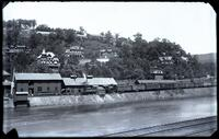 Mauch Chunk, looking across river at mansions