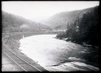 Lehigh River and Mountains near Glen Onoko