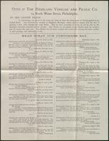Highland Vinegar and Pickle Company broadside and letter