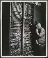 ENIAC accumulators, rear view