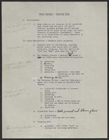 The Glory Hole preliminary script