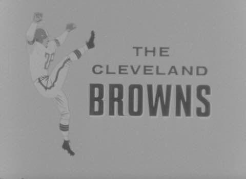 Promotions for Carling Beer and Cleveland Browns football game