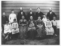 Frank Sheppard with brothers and their families