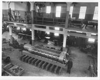 Black powder press in new machine shop (view from above)