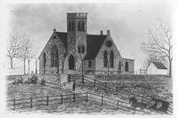 Pierre A. Gentieu painting of Mount Salem Methodist Episcopal Church
