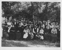 Reunion of Nield's Battery, 1st Delaware Battery, with families