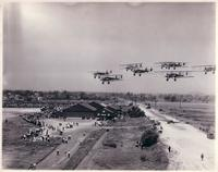 Bombing Planes in formation over Philadelphia Municipal Airport