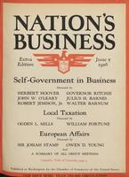 Nation's Business [June 1926, Extra Edition]