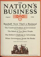 Nation's Business [August 1924]