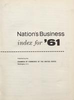 Nation's Business [Index for 1961]