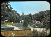 View of formal gardens at Copeland House, home of Mr. and Mrs. Charles Copeland