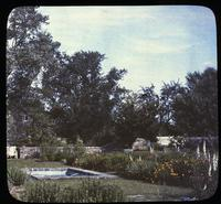 Terrace Garden showing pond at Osborne Hill, home of Mr. and Mrs. Leroy Harvey