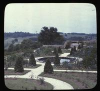 Lower Terrace Garden with pond at Granogue, home of Mr. and Mrs. Irénée du Pont