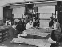 Women at work in Blue Printing Department