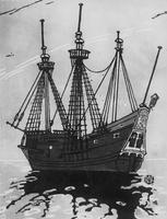 Hudson's Ship, Half-Moon, copied from Mr. Mildon's print