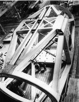 Nearly completed Serrurier truss tube assembly viewed from above