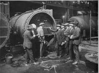 U.S. Shipping Board Marine Engineers being instructed in condenser design and operation