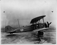 United Air Lines single engined mail-passenger biplane