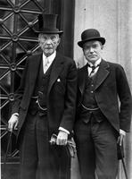 Rockefellers, senior and junior-photographed together for first time in many years-attend services conducted by new pastor of church