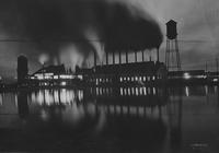 Night scene at a southern pine mill (Bogalusa, La)