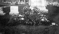 Flowers at grave of Cora Baynard