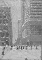 PSFS Building sketch in the snow