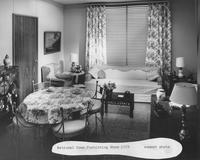 Everfast Everglaze fabrics in summer display at 1959 National Home Furnishing Show