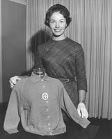 Nancy Anne Fleming, Miss America 1961, with Official Miss America Ban-Lon sweater by Helen Harper