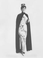Vonda Van Dyke, Miss America 1965, in Ban-Lon evening ensemble by Eve Lyn of Canada