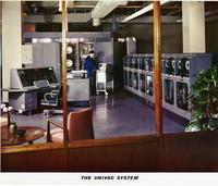 UNIVAC I central computer, showing memory tanks