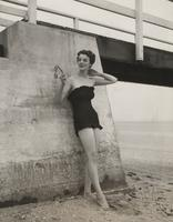 Woman wearing swimsuit made of Rayon