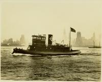 Delivery of the tugboat Rochester, hull #412, tug for Erie Railroad