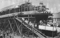 Christening of the ferry, Chelsea, built for the Reading Company