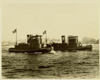 Delivery of the tugboat Rochester and Cleveland, tugboats for Erie Railroad