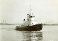 Delivery of the tugboat J.P. Pulliam, #1078