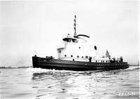 Trial trip of the tugboat H.S. Falk, #1077