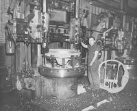 Worker in Machine Shop performing War Work