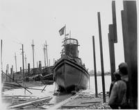 Launching of the tugboat Winterthur, hull #357