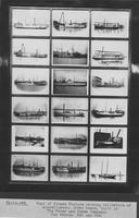 Framed photographs of American River Boats built by the Pusey and Jones Company