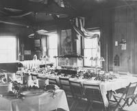 Banquet room for launch of the yacht, Emrose