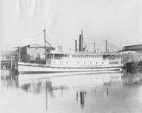Steel steam boat, Springfield, built for B. & P. Transportation Co.