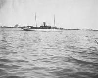 The yacht, Viking, underway