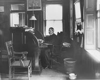 W. W. Pusey in his office