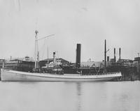 The steamer, Joseph Wharton under construction