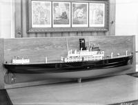Model by Mr. Freemantle of the cargo ship, S.S. Quaker