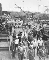 War Bond Drive parade through Pusey and Jones plant